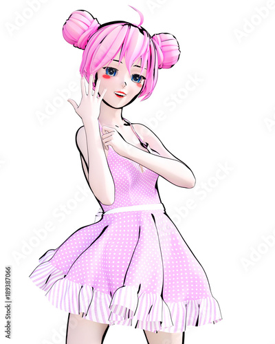 3d-sexy-anime-lalki-dziewczyna-duze-niebieskie-oczy-i-jasny-makijaz-rozowa-sukienka-kreskowka-komiksy-szkic-rysunek-ilustracja-manga-koncepcyjne-sztuki-mody-uwodzicielska-szczera-poza