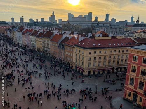 Zdjęcia na płótnie, fototapety, obrazy : panorama Warszawy