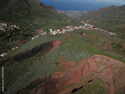 Fotobehang Diepbruine Landscapes at Tenerife from above
