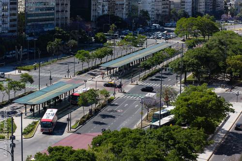Fotobehang Buenos Aires Vista del metrobus de Buenos Aires