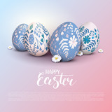 Stylish Happy Easter template - 189415002