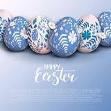 Stylish Happy Easter background
