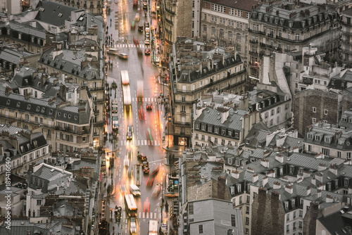 Foto op Aluminium Parijs Aerial view of Paris in old town area
