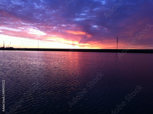 Foto op Plexiglas Aubergine Полярное небо