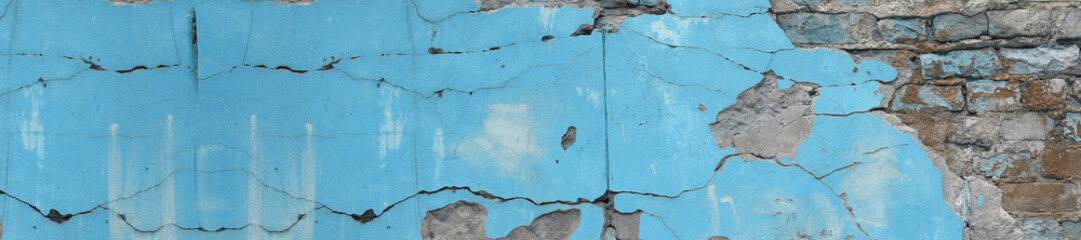 panorama blue turquoise textured concrete background