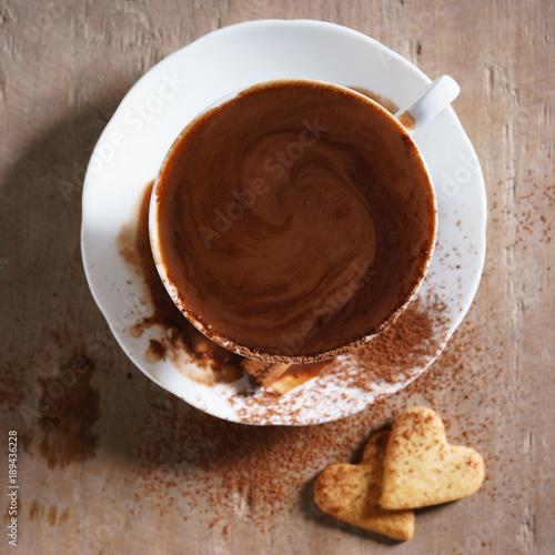 Fotobehang Chocolade hot chocolate.