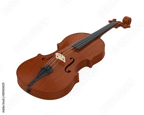 Fotobehang Muziek Aged Violin Isolated