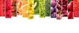 Çeşitli meyve ve sebzelerden oluşan kolaj
