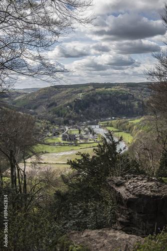 Foto op Canvas Donkergrijs Tntern Abbey Wye Valley, Wales, UK