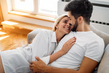 Romantic couple in bed - 189464281