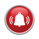 Bell button vector isolated - 189466037
