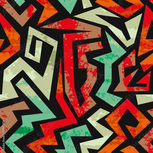 Teksturowane graffiti wzór. Wektorowej akwareli kolorowy geometryczny abstrakcjonistyczny tło.