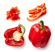Sweet red pepper isolated on white