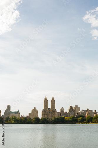 Staande foto London New York City Central Park skyline