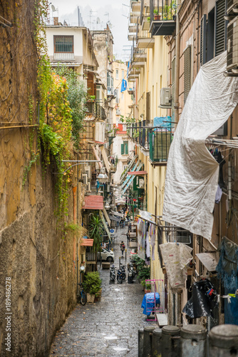 Staande foto Napels Naples / Italy - November 30 2017: City streets full of people in Naples, Italy