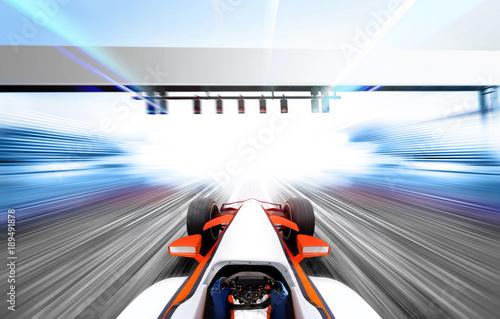Fotobehang F1 3D illustration of formula one