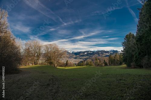 Keuken foto achterwand Nachtblauw Zwischen Liechtenstein und Feldkirch