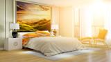 Helles Hotelzimmer oder Schlafzimmer im Sommer - 189503605