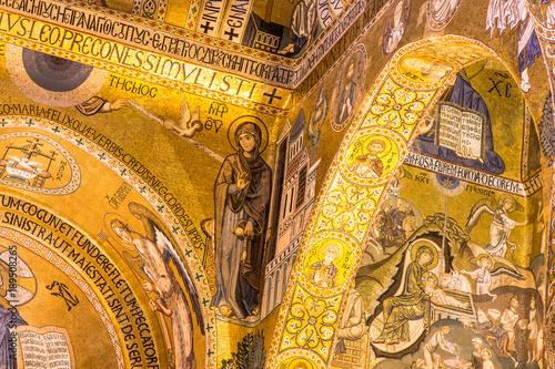 Fotobehang Palermo La Cappella Palatina a Palermo