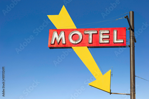 Fotobehang Route 66 Motel