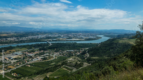 Top view on Valence city in Rhone-Alpes french region.