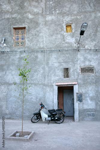 Fotobehang Fiets Marrakech Morocco