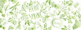 Spring doodles background - 189522848