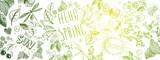 Spring doodles background - 189523235