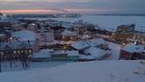 Winter evening view of Nizhny Novgorod Russia