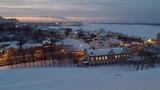 Winter sunset in Nizhny Novgorod Russia