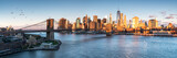 Fototapeta Fototapeta Nowy Jork - East River mit Blick auf Manhattan und die Brooklyn Bridge, New York, USA © eyetronic