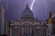 Quadro lightning over St. Peter's Square in Rome
