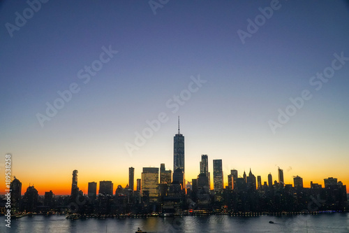Foto op Canvas Shanghai sunrise at Manhattan