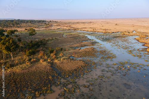 Fotobehang Diepbruine Landscape in Kenya