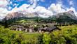Quadro Panoramablick auf Cortina d'Ampezzo, Dolomiten, Italien