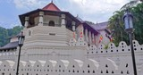Famous Sri Dalada Maligawa temple in Kandy town, Sri Lanka. Beautiful ancien architecture of traditional building - 189560659