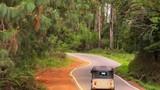 Tuk tuk moto taxi traditional transportation ride on road in Sri Lanka - 189562817