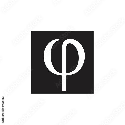 Rho Letter Greek Symbol Logo Vector Buy Photos Ap Images