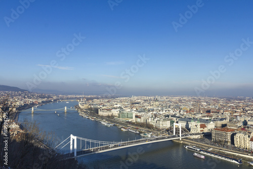 Poster Boedapest Elizabeth bridge in Budapest