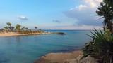 Azure sea at the Adams beach in Ayia Napa Cyprus