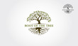 Root Of The Tree logo illustration. Vector silhouette of a tree.