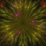 Fractal generated abstract color starshape background