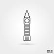 Big Ben Line Icon
