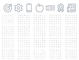 600 vector thin line mini icons set. Thin line simple outline icons, 24x24px grid. Pixel Perfect. Editable stroke. - 189627636