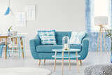 Blue flat interior with sofa - 189633464