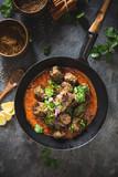 Boulettes de Viande au Curry Indien