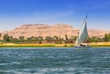Falukas sailboat on the Nile river near Luxor, Egypt - 189642213