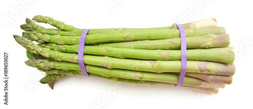 Foto op Canvas Verse groenten Delicious fresh green asparagus on white background