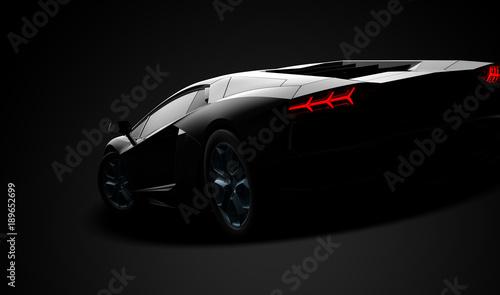 Black modern sport car