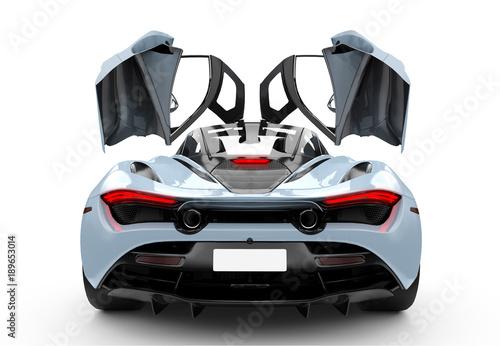 blaues-modernes-sportauto-mit-oper-turen